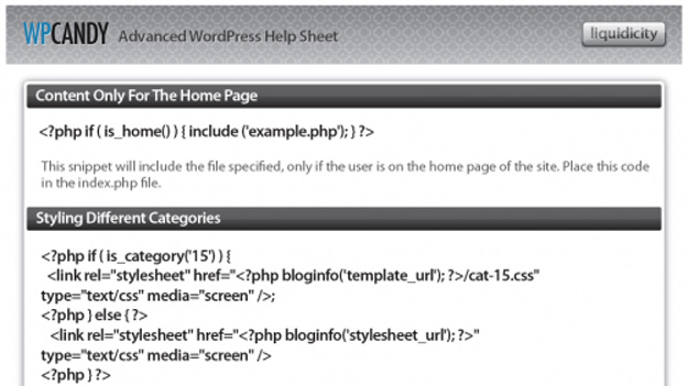 Advanced-Wordpress-Help-Sheet