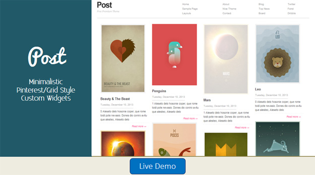 Post Blogger Template