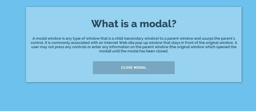 Pure CSS3 Modal window