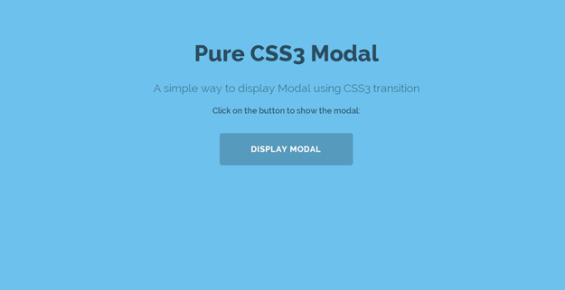 Pure CSS3 Modal