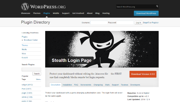 Stealth Login Page